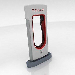 3d tesla supercharger model