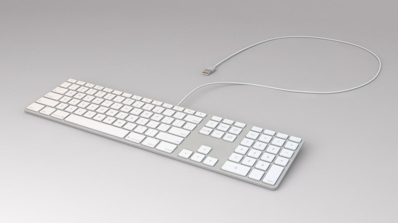 3d apple keyboard model