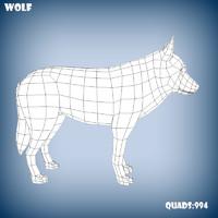 c4d base mesh wolf