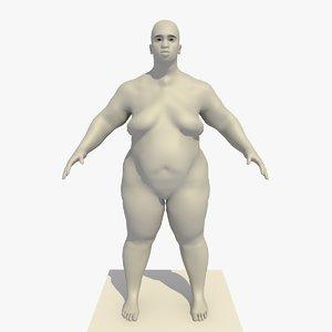 3d base mesh obese 25
