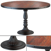 It is a model: French Soda Fountain Distressed Wood Kitchen Table