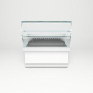 3d 3ds supermarket freezer