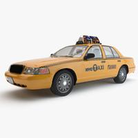 3d new york taxi car