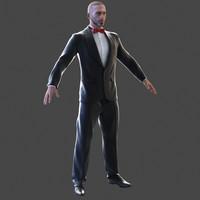 man suit 3d max