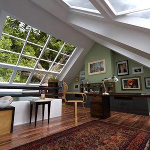 3d attic atico