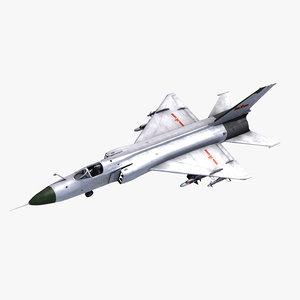 shenyang j8 finback fighter 3d 3ds