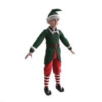 christmas elf s 3d max