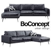 BoConcept Carlton sofa with resting unit (black)