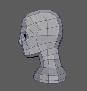 free head basemesh clean 3d model