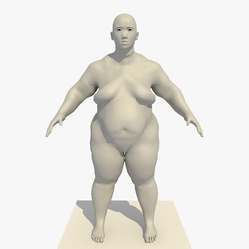 base mesh obese 25 c4d