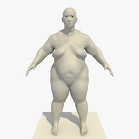 Rigged Obese 25 Year Old Dwarf Asian Female Base Mesh