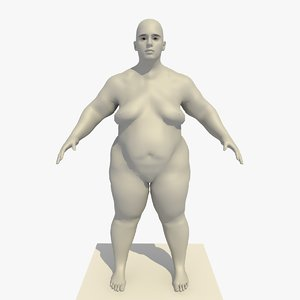base mesh obese 25 c4d