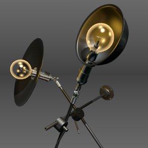 3d wo lamp pack model