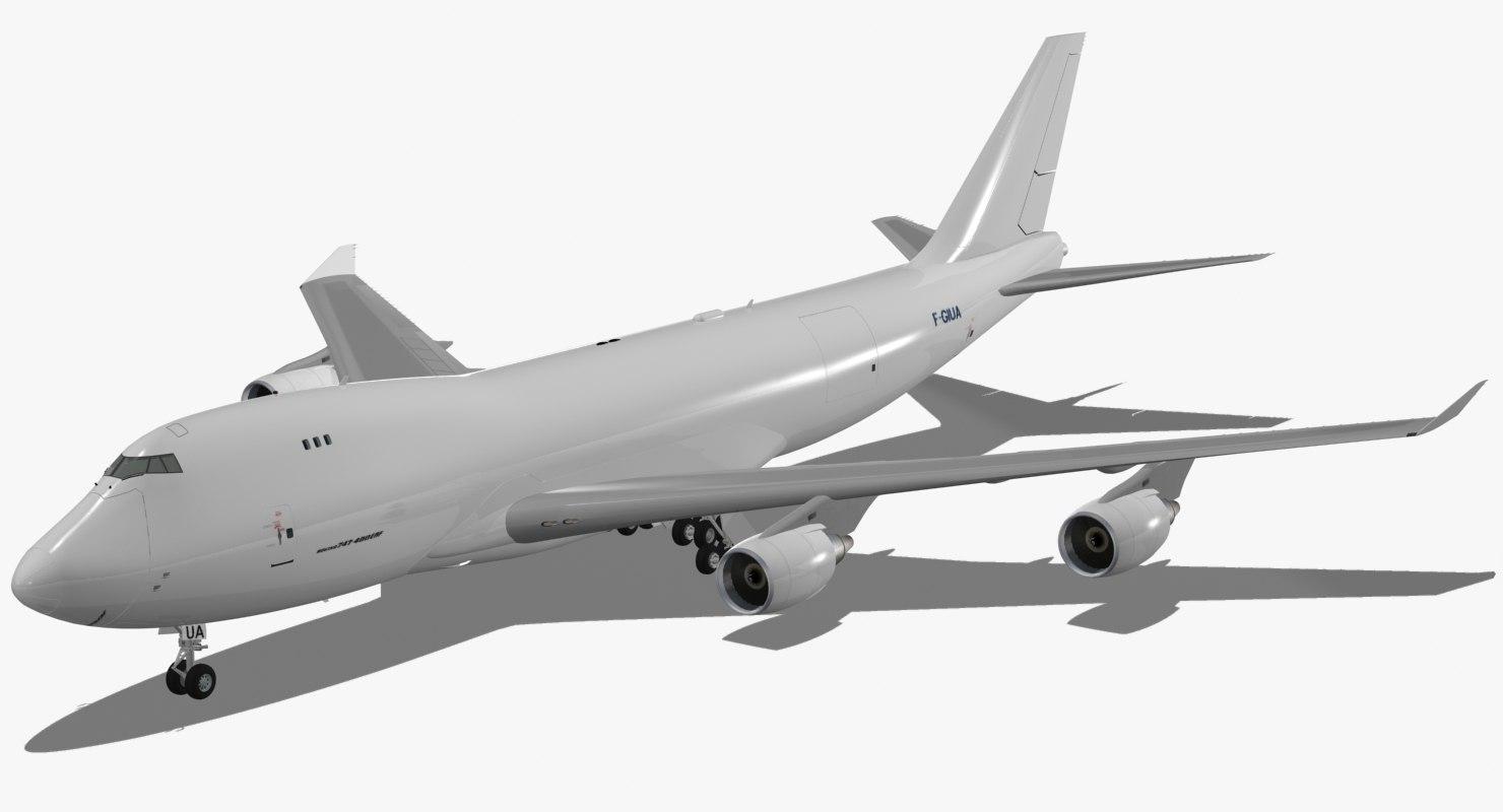 boeing 747-400 erf 3d model