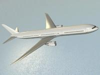 3d model boeing 767-400 er airliner