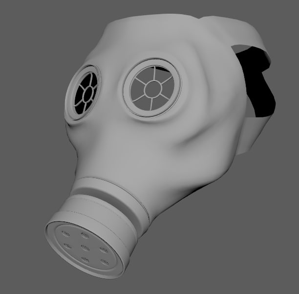 3d german gasmask model