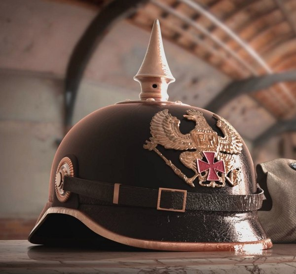 3d german pickelhaube helmet