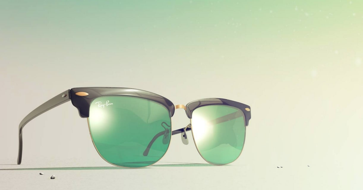3d model rayban clubmaster ban