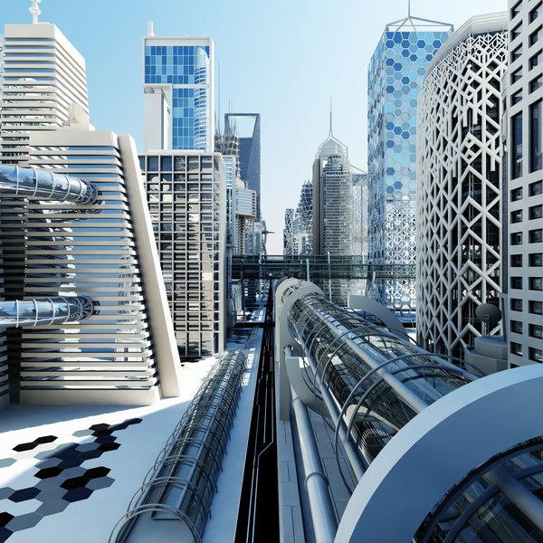 3d model future futuristic architectural