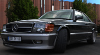 3d car mercedes luxury 500 model