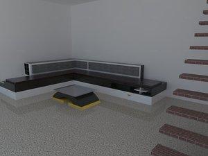 livingroom sofa table 3d model