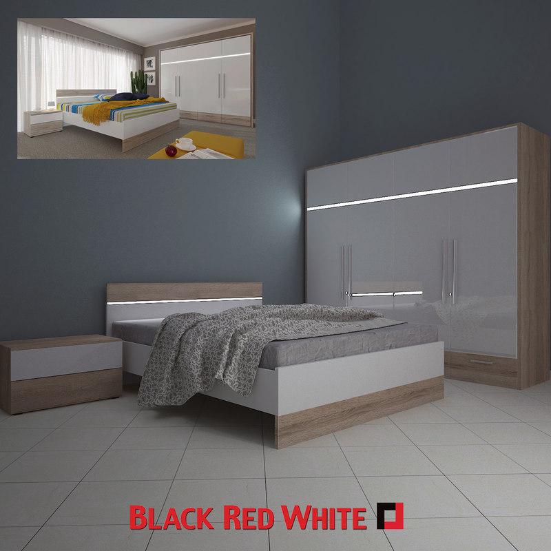 3d bedroom brw bed model