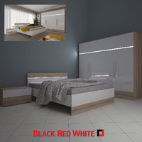 3d bedroom brw bed model