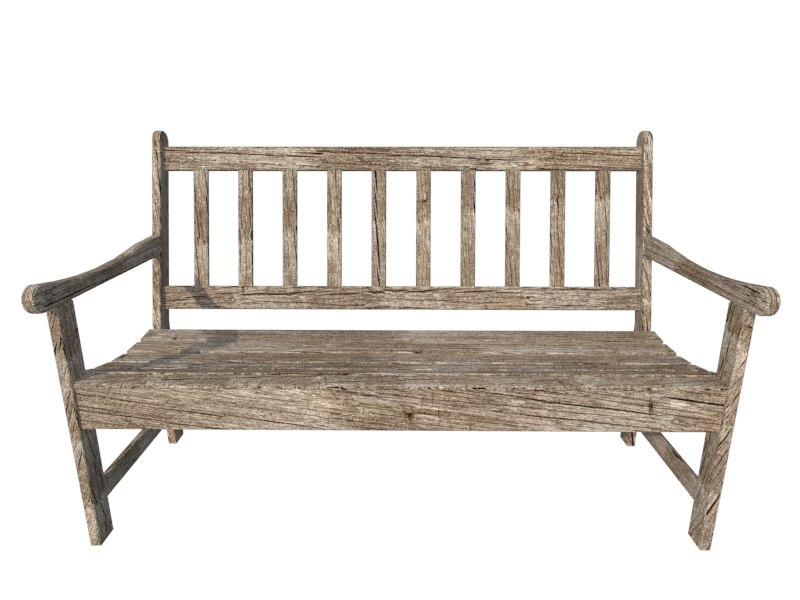 wooden bench 3ds