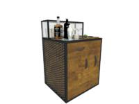 3d model mini drink bar