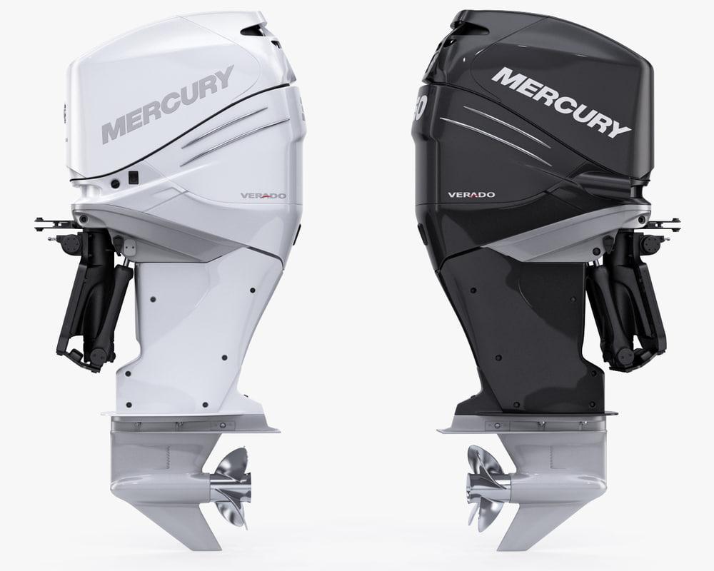 Engine 3d Models For Download Turbosquid Vw Diagram Mercury Verado 350 Power Model