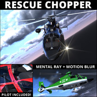 rescue helicopter pilot 3d model