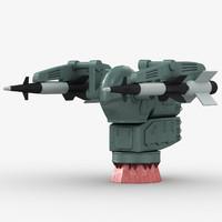 missile sa-n-1 goa 3d model
