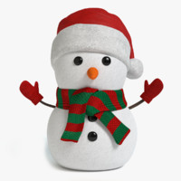 maya holiday snowman