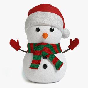maya holiday snowman
