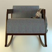 interior jeans armchair 3d obj