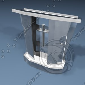 1 pulpit glass 3d model