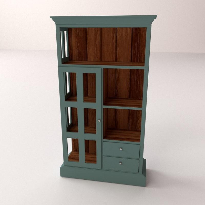 3ds max bookcase case