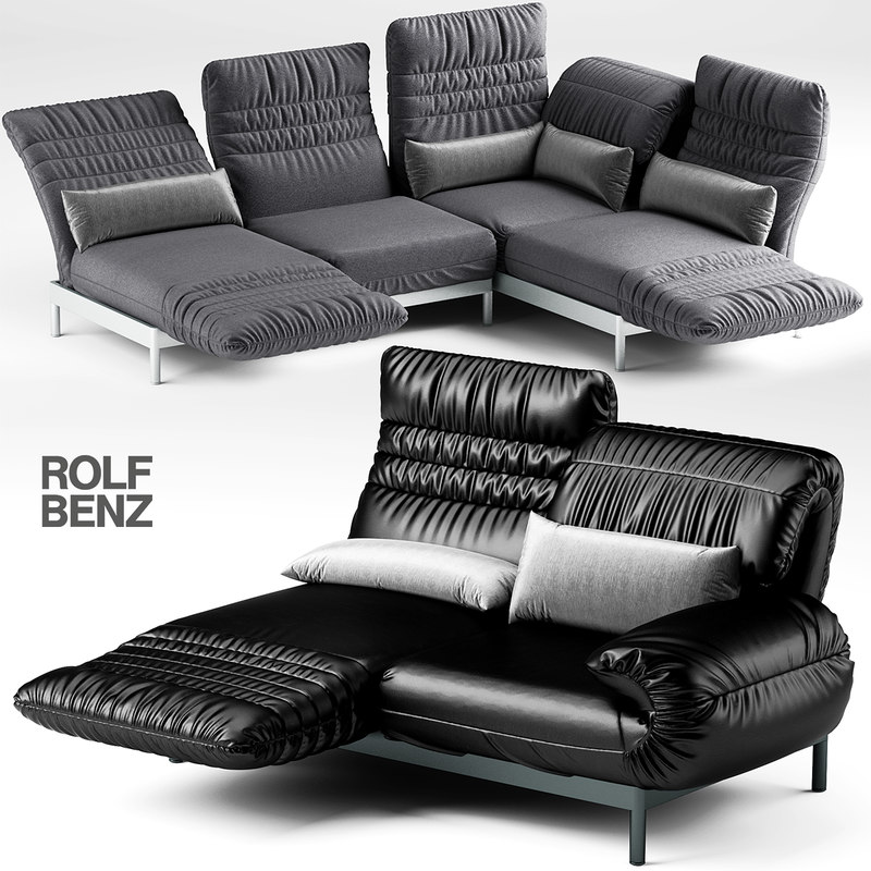 max sofa rolf benz. Black Bedroom Furniture Sets. Home Design Ideas