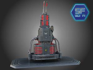 3d enigine reactor model