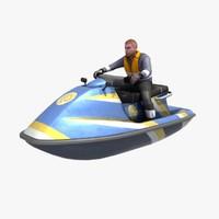 3ds max jetski rider