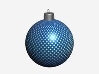 free christmas ball 3d model