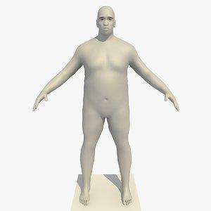 3d model of realistic base mesh 45
