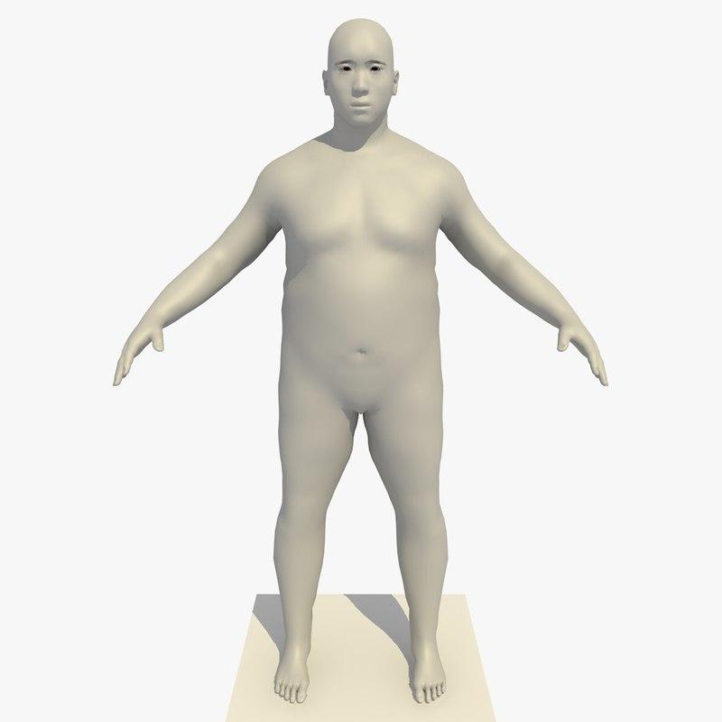 realistic base mesh 45 3d model