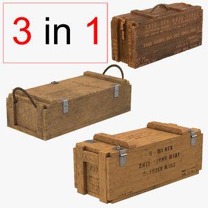 3dsmax ammo crates