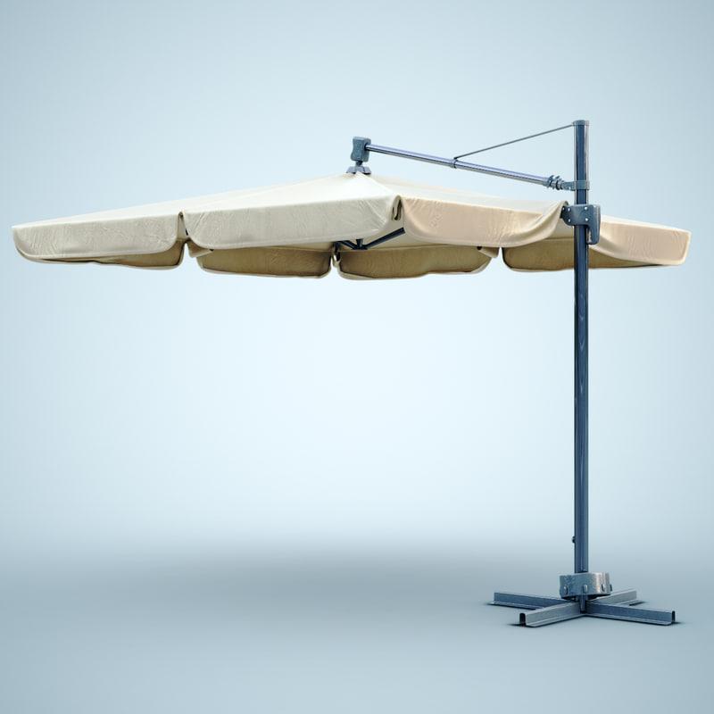 patio umbrella modern 3d max