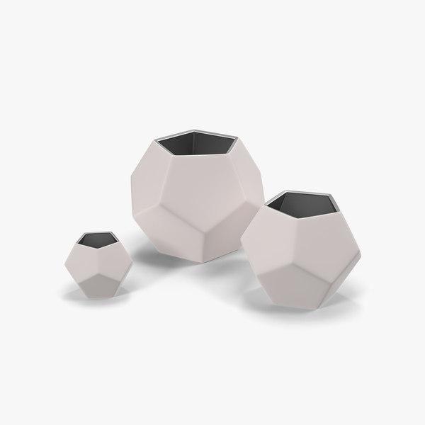 3ds geometric vase