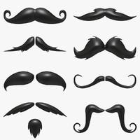Cartoon Mustache Collection