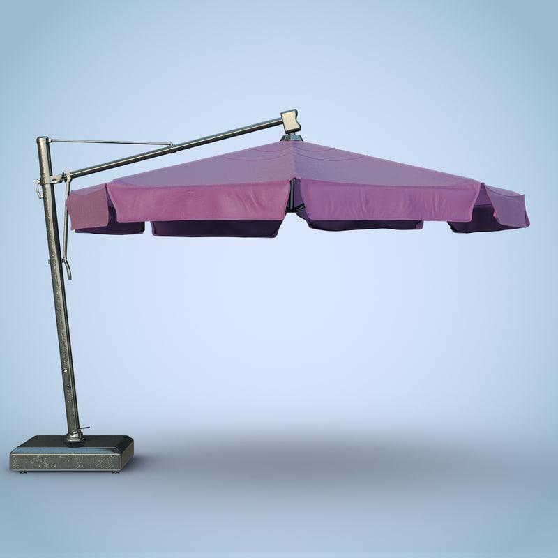 3d patio umbrella modern big