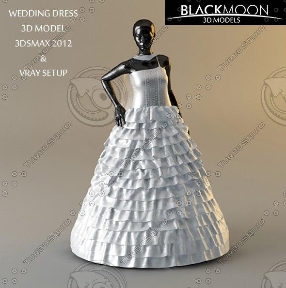 wedding dress 3d model