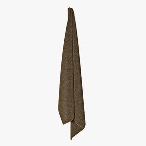 hanging bathroom towel brown 3d max
